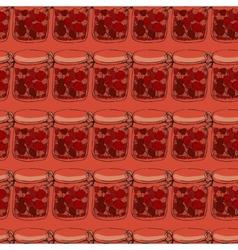 Jars of jam vector image