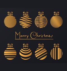 luxury golden balls vector image vector image