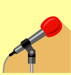 microphone icon flat style vector image