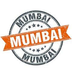 Mumbai red round grunge vintage ribbon stamp vector