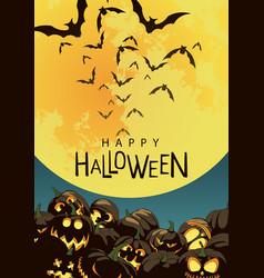 Poster happy halloween vector