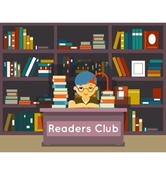 Readers club education and love of reading vector