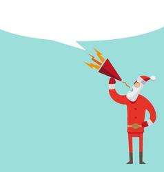 Santa Claus flat design with loudspeaker vector image vector image