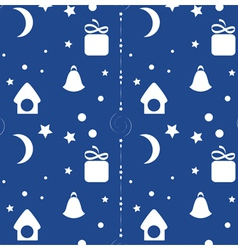 seamless pattern christmas background vector image vector image