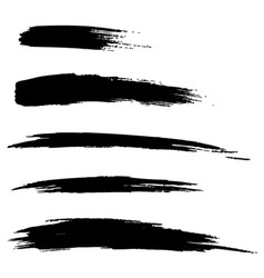 Set of Hand Drawn Grunge Brush Lines vector image vector image