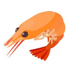 shrimp icon isometric 3d style vector image