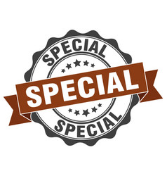 special stamp sign seal vector image vector image