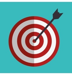 Target arrow success isolated icon vector