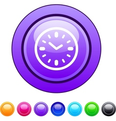 Time circle button vector image vector image