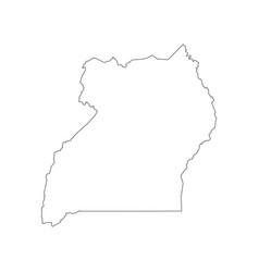 Uganda map outline vector