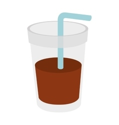 Glass drink straw icon vector