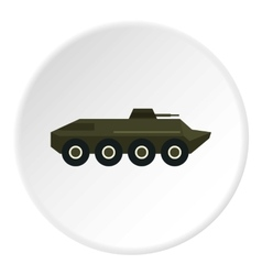 Armored troop-carrier icon flat style vector