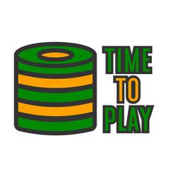 casino poker gambling bet chips template vector image