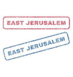 East jerusalem textile stamps vector