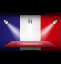 Flag of france and platform vector