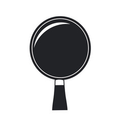 Wooden racket ping pong game pictogram vector