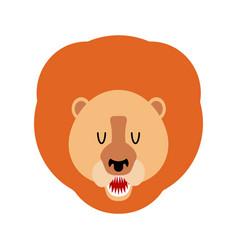 Lion muzzle isolated leo face savannah wild vector