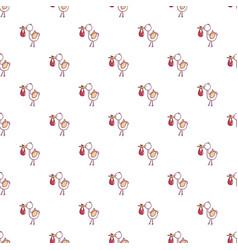 baby hobbledehoy pattern seamless vector image