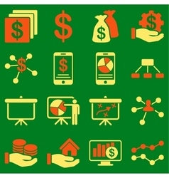 Finance and business charts icons vector