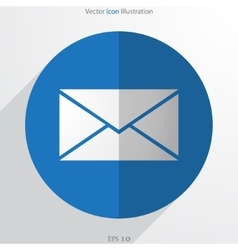 Mail web flat icon vector