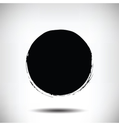 Black grunge circle background vector