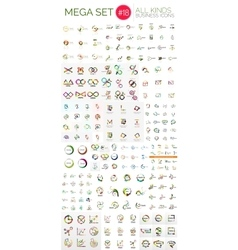 Logo mega collection vector