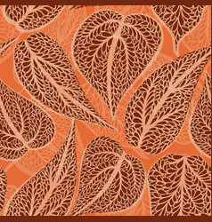 abstract floral seamless pattern with leaves vector image vector image
