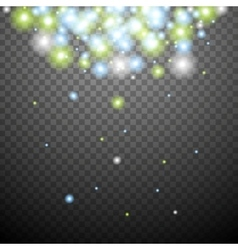 Abstract green blue transparent sparkle background vector image vector image