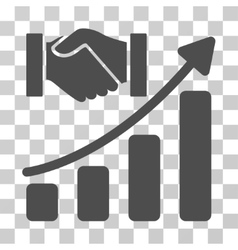 Acquisition hands growth chart icon vector