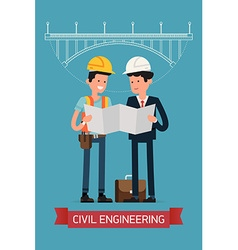 Civil engineering character icon vector