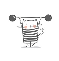 Cute circus cat vector
