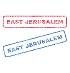 East jerusalem textile stamps vector