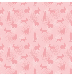 enchanted lapins pattern vector image vector image