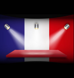Flag of france and platform vector