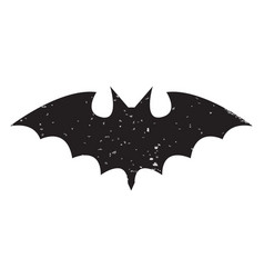 Halloween slhouettes bat vector