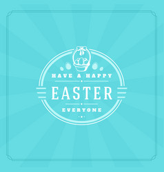 happy easter greeting card design text template vector image vector image