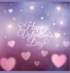 happy valentines day card 14 february vector image vector image