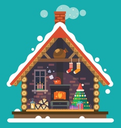 House of santa claus vector
