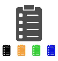list pad flat icon vector image vector image