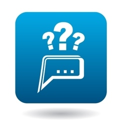 Questions to technical support icon flat style vector image vector image