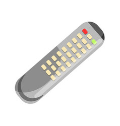 Remote control in grey color isolated on white vector