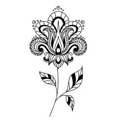 Retro paisley floral element vector