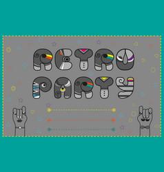 Retro party funny invitation vector