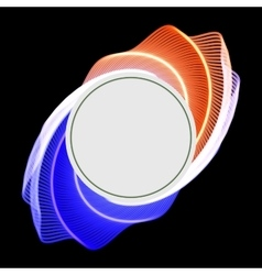 Round glossy label banner frame vector