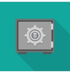 Safe icon flat vector