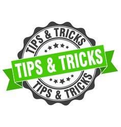 tips tricks stamp sign seal vector image