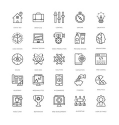 web design and development icons 10 vector image vector image