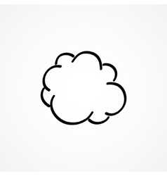 Cloud hand-drawn vector