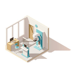 isometric low poly mammography room vector image