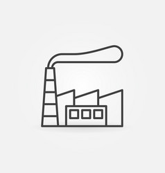 factory building minimal icon vector image